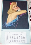 Jules Erbit Art Calendar 1951 Pin Up Glamour Prints
