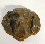 Redware Dog Face W/holes To Mount On ?