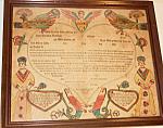 1785 Signed Freidrich Speyer Taufshein,