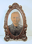 Photo Carved Wood Folk Art Frame 3-dimensional [d]