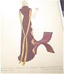 Vintage Fashion Watercolor Painting Tea Cup Art Deco Dresses