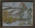 Emil O Thulin Oil On Canvas 1947