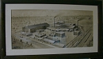 Watercolor Of Chester,pa , Atlantic Steel Casting Co,
