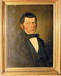 Dominik Spani Oil On Cardboard 1856 Portrait