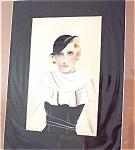 Vintage Watercolor Painting Ladies Hats Dresses Fashion