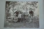 Family Of Bicyclists Circa 1900