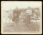 Cabinet Photo Of 2 Female Bike Riders C 1890