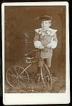 Cabinet Photo Of Boy With Tricycle C 1880
