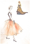 Fashion Watercolor Painting Ladies Dresses Fashion