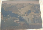 Grant Wood Print Published In His Lifetime Stone City