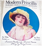Modern Priscilla Magazine 6/1921 Lady In Flower Bonnet