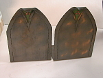 Unsigned Roycroft? Italian Polychrome Copper Bookends