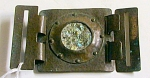Unsigned Hammered Copper Riveted W/abalone Shell Buckle