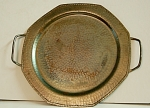 Roycroft Two Handled Octagon Tray Signed