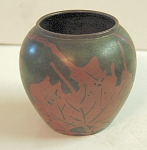 Patinated Copper/bronze Ovoid Vase European Unsigned