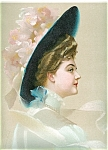 Victorian Edwardian Glamour Ladies Prints: Lady Flower Hat