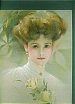 Victorian Edwardian Ladies Prints: Lady With Yellow Roses