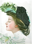 Victorian Edwardian Ladies Prints: Lady With Lillies Big Hat