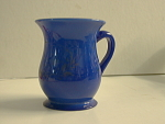 Remember Me Enameled Blue Opaline Glass Mug