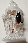 Czech Glass Figural Thermometer Ice & Penguin