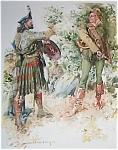 Hc Christy Vintage Print Scottish Regalia Warrior 1910