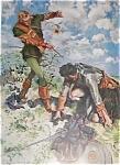Vintage Print Hc Christy Sottish Warrior In Battle 1910