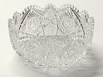 Large Elmira #67 Cut Glass Bowl W/star Of David