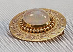14k Opal Oval Brooch