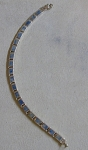 Sterling Line Bracelet W/inlaid Stones