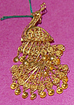 Gilt Sterling Articulated Filligree Peacock