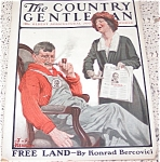 Jf Kernan Country Gentleman Magazine Political Man, Pipe