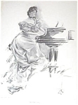 Vintage Piano Playing Print Harrison Fisher