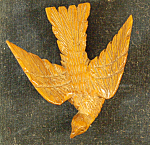 Eagle Brooch Carved Wood Fine Detail 1875