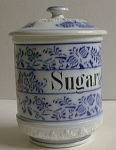 Blue Onion Pattern Sugar Canister