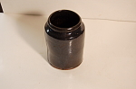 Redware Storage Jar Penna Dark Brown