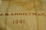Civil War Era Signed Flour Bag 1861