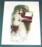 Antique Art Print Piano Music Romance Clarence Underwood