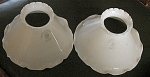Pair Of Matched Signed White Opaline Petticoat Shades