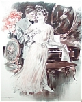Music ; Piano Couple: Romance Henry Hutt Print