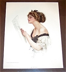 Vintage Music Print Harrison Fisher Lady Singing