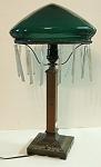 Vienna Seccessionist Style Cased Glass Lamp