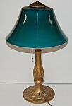 Emeralite Table Lamp Signed Ultra Rare Shape