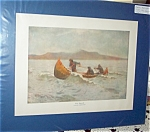 Frederic Remington Vintage Print The Squall Nautical