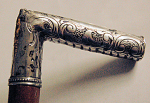 1861 Brown University Inscribed Sterling Handle Cane