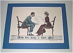 Vintage Jm Flagg Print With This Ring I Thee Wed Wedding Romance