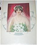 Vintage Bride Print Wedding Bouquet Frank Desch