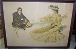 Antique Will Grefe Print Yellow Peril Beach Scene