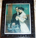 Antique Framed Print Romance Old Silver