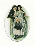 Romance Print: Clarence Underwood 1907: Lady With Hat