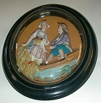 Pair Of Framed Bisque German/french Victorian Figures